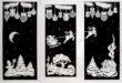 Новогодние трафареты ❄ наокна 2018 распечатать картинки, форматы вырезалки наокна: схемы.