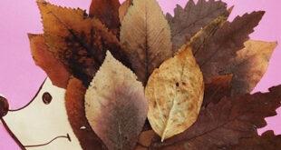 Изготовление поделок изосенних листьев