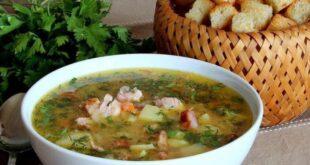Гороховый суп с копченой курицей - пошаговый рецепт с фото