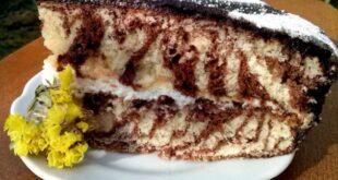 """Торт """"Зебра"""" - пошаговый рецепт с фото"""