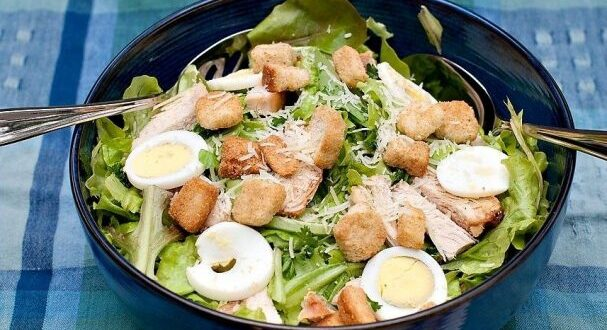 Салат «Цезарь» классический — пошаговый рецепт с фото